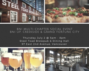 Summer Beers After Work - BNI Group Social Event - July 2, 2015